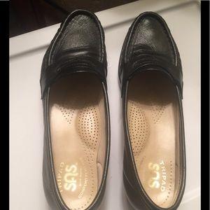 SAS Tripad Comfort  Black Leather Loafers Shoes 6S